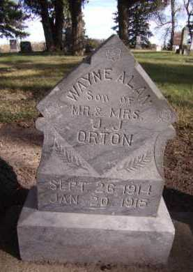 ORTON, WAYNE ALAN - Moody County, South Dakota | WAYNE ALAN ORTON - South Dakota Gravestone Photos