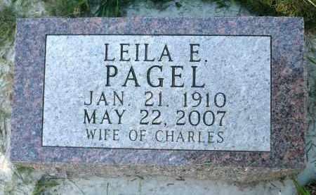 PAGEL, LEILA EVELYN - Moody County, South Dakota | LEILA EVELYN PAGEL - South Dakota Gravestone Photos