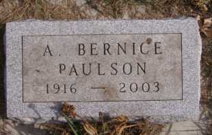 PAULSON, A BERNICE - Moody County, South Dakota | A BERNICE PAULSON - South Dakota Gravestone Photos