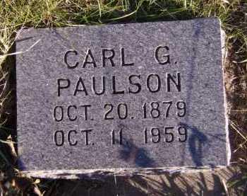 PAULSON, CARL G - Moody County, South Dakota | CARL G PAULSON - South Dakota Gravestone Photos