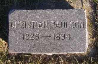 PAULSON, CHRISTIAN - Moody County, South Dakota   CHRISTIAN PAULSON - South Dakota Gravestone Photos
