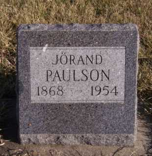 PAULSON, JORAND - Moody County, South Dakota | JORAND PAULSON - South Dakota Gravestone Photos