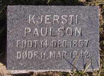 PAULSON, KJERSTI - Moody County, South Dakota | KJERSTI PAULSON - South Dakota Gravestone Photos