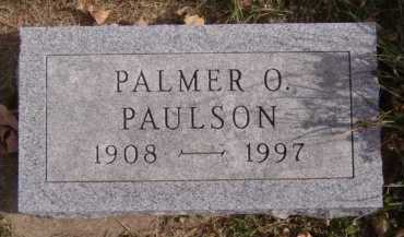 PAULSON, PALMER O - Moody County, South Dakota   PALMER O PAULSON - South Dakota Gravestone Photos