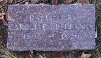 PEDERSON, CAROLINE - Moody County, South Dakota | CAROLINE PEDERSON - South Dakota Gravestone Photos