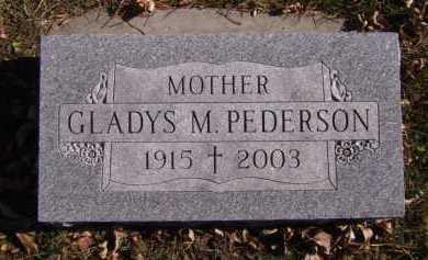 PEDERSON, GLADYS M - Moody County, South Dakota   GLADYS M PEDERSON - South Dakota Gravestone Photos