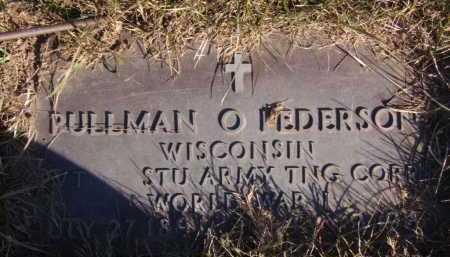 PEDERSON, PULLMAN O - Moody County, South Dakota | PULLMAN O PEDERSON - South Dakota Gravestone Photos