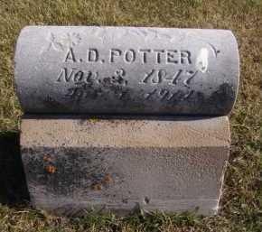POTTER, A D - Moody County, South Dakota   A D POTTER - South Dakota Gravestone Photos