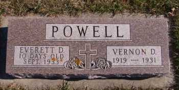 POWELL, EVERETT D - Moody County, South Dakota | EVERETT D POWELL - South Dakota Gravestone Photos