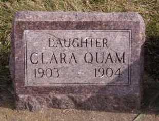 QUAM, CLARA - Moody County, South Dakota | CLARA QUAM - South Dakota Gravestone Photos