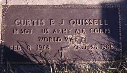 QUISSELL, CURTIS E J - Moody County, South Dakota | CURTIS E J QUISSELL - South Dakota Gravestone Photos