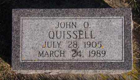 QUISSELL, JOHN O - Moody County, South Dakota | JOHN O QUISSELL - South Dakota Gravestone Photos