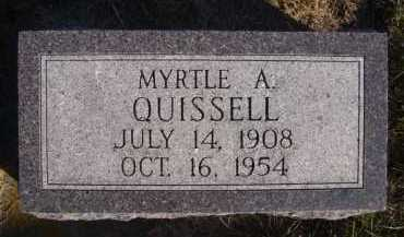 QUISSELL, MYRTLE A - Moody County, South Dakota | MYRTLE A QUISSELL - South Dakota Gravestone Photos