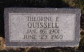 QUISSELL, THEORINE E - Moody County, South Dakota | THEORINE E QUISSELL - South Dakota Gravestone Photos