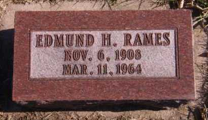 RAMES, EDMUND H - Moody County, South Dakota | EDMUND H RAMES - South Dakota Gravestone Photos