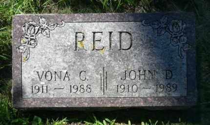 REID, VONA C. - Moody County, South Dakota   VONA C. REID - South Dakota Gravestone Photos