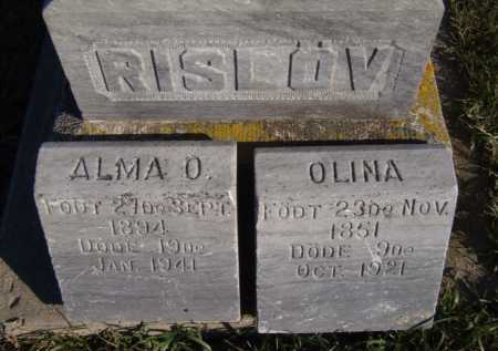 RISLOV, ALMA O (CLOSEUP) - Moody County, South Dakota | ALMA O (CLOSEUP) RISLOV - South Dakota Gravestone Photos