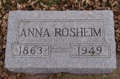 ROSHEIM, ANNA - Moody County, South Dakota | ANNA ROSHEIM - South Dakota Gravestone Photos