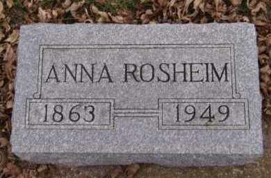 BERGE ROSHEIM, ANNA - Moody County, South Dakota | ANNA BERGE ROSHEIM - South Dakota Gravestone Photos