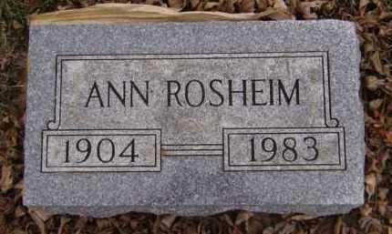 ROSHEIM, ANN - Moody County, South Dakota   ANN ROSHEIM - South Dakota Gravestone Photos