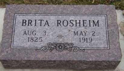 ROSHEIM, BRITA - Moody County, South Dakota   BRITA ROSHEIM - South Dakota Gravestone Photos