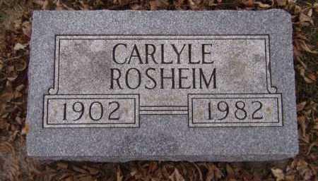 ROSHEIM, CARLYLE - Moody County, South Dakota | CARLYLE ROSHEIM - South Dakota Gravestone Photos