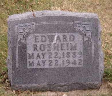 ROSHEIM, EDWARD - Moody County, South Dakota | EDWARD ROSHEIM - South Dakota Gravestone Photos
