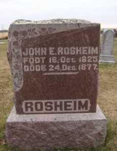 ROSHEIM, JOHN E - Moody County, South Dakota | JOHN E ROSHEIM - South Dakota Gravestone Photos