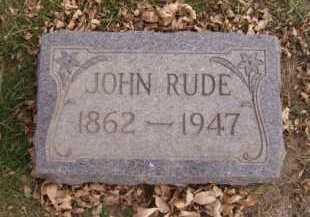 RUDE, JOHN - Moody County, South Dakota | JOHN RUDE - South Dakota Gravestone Photos