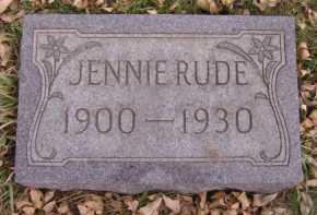 RUDE, JENNIE - Moody County, South Dakota | JENNIE RUDE - South Dakota Gravestone Photos
