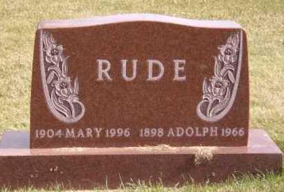 RUDE, ADOLPH - Moody County, South Dakota | ADOLPH RUDE - South Dakota Gravestone Photos