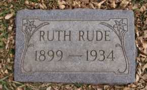 RUDE, RUTH - Moody County, South Dakota | RUTH RUDE - South Dakota Gravestone Photos