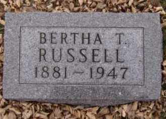RUSSELL, BERTHA T - Moody County, South Dakota | BERTHA T RUSSELL - South Dakota Gravestone Photos