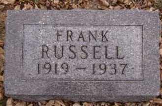 RUSSELL, FRANK - Moody County, South Dakota | FRANK RUSSELL - South Dakota Gravestone Photos