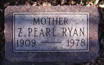 RYAN, Z PEARL - Moody County, South Dakota | Z PEARL RYAN - South Dakota Gravestone Photos
