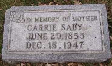 SABY, CARRIE - Moody County, South Dakota | CARRIE SABY - South Dakota Gravestone Photos