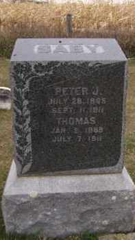 SABY, PETER J - Moody County, South Dakota | PETER J SABY - South Dakota Gravestone Photos
