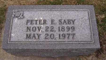 SABY, PETER E - Moody County, South Dakota | PETER E SABY - South Dakota Gravestone Photos