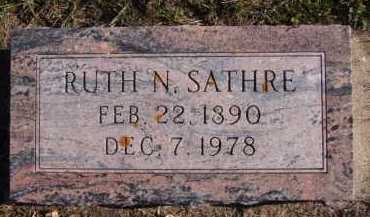 SATHRE, RUTH N - Moody County, South Dakota | RUTH N SATHRE - South Dakota Gravestone Photos