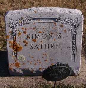 SATHRE, SIMON S - Moody County, South Dakota | SIMON S SATHRE - South Dakota Gravestone Photos