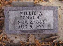 SCHACHT, WILLIE A - Moody County, South Dakota | WILLIE A SCHACHT - South Dakota Gravestone Photos
