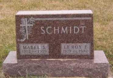 SCHMIDT, LEROY F - Moody County, South Dakota | LEROY F SCHMIDT - South Dakota Gravestone Photos