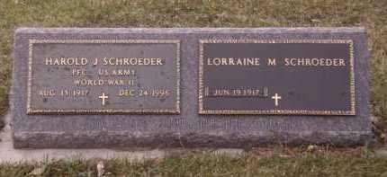 SCHROEDER, HAROLD J - Moody County, South Dakota   HAROLD J SCHROEDER - South Dakota Gravestone Photos