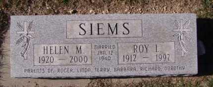 SIEMS, ROY L - Moody County, South Dakota | ROY L SIEMS - South Dakota Gravestone Photos