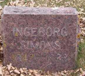 SIMONS, INGEBORG - Moody County, South Dakota | INGEBORG SIMONS - South Dakota Gravestone Photos