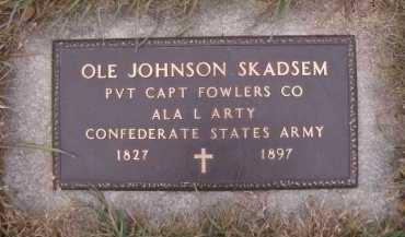 SKADSEM, OLE JOHNSON - Moody County, South Dakota | OLE JOHNSON SKADSEM - South Dakota Gravestone Photos
