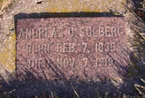 SOLBERG, ANDREAS U - Moody County, South Dakota | ANDREAS U SOLBERG - South Dakota Gravestone Photos