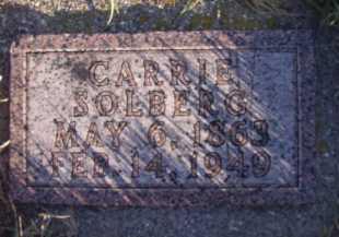 SOLBERG, CARRIE - Moody County, South Dakota | CARRIE SOLBERG - South Dakota Gravestone Photos