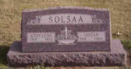 SOLSAA, ODEAN - Moody County, South Dakota | ODEAN SOLSAA - South Dakota Gravestone Photos
