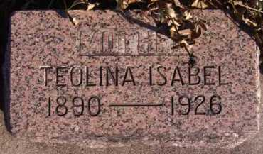 SOLSAA, TEOLINA ISABEL - Moody County, South Dakota | TEOLINA ISABEL SOLSAA - South Dakota Gravestone Photos